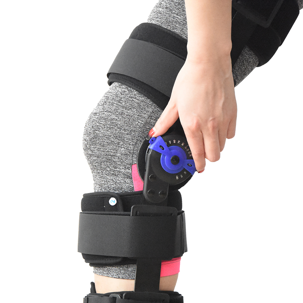 Medical ROM Hinged Knee Support Orthosis, Post-OP Immobilization for ACL+PCL, MCL, LCL T ...