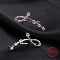 Trendy Ear Cuff 925 Sterling Silver Women Earring Clips Hot Sale Wedding Jewelry Factory Price DE159