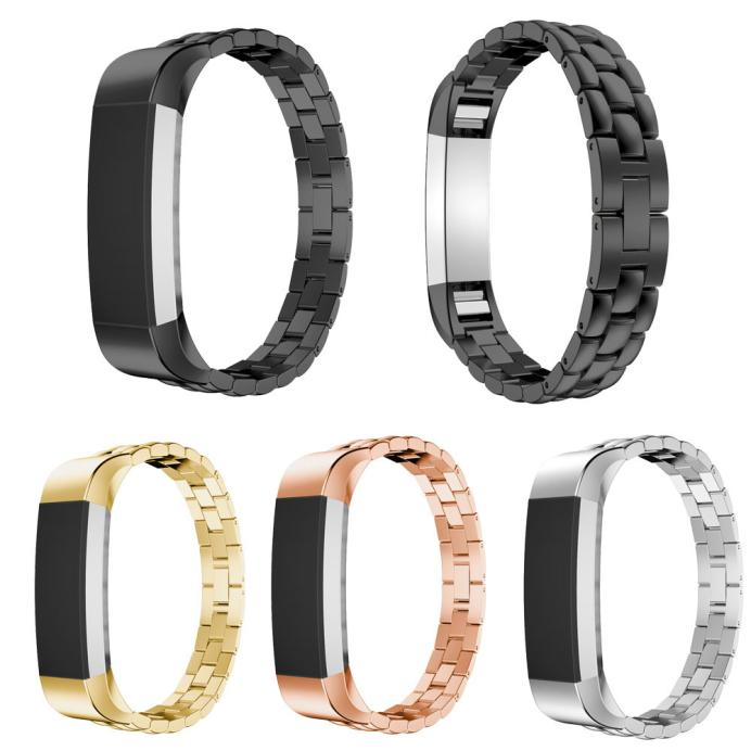 цена на NEW Luxury Genuine Stainless Steel Watch Band Wrist Strap For Fitbit Alta Tracker Easy to adjust High Quality #0429