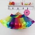 2016 Nuevo Diseño de Estilo de la Falda Del Bebé de la Falda Del Arco Iris Del Verano barato niños tutú de la falda