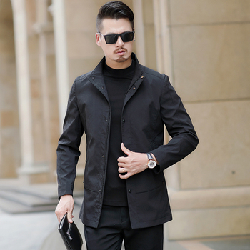 M-3xl Jacket Men's New Spring Middle-aged Thin Section Stand Collar Handsome Jackets And Coat Men Clothes 2020 Windbreaker