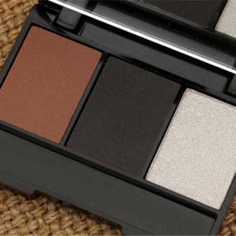 3 Colors Set Professional Makeup Eyeshadow Palette Eyebrow Makeup Palatte paleta de sombra Contour Palette Maquiagem Women 10