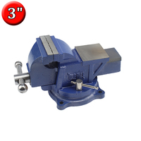 3 Inch Swivel Bench Vise Mounting Screws Included Mechanic's Work Table Vise Woodworking Vice