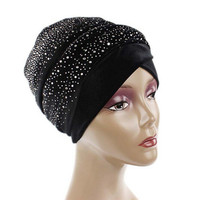New Arrival Fashion Women Cancer Fashion Muslim Women Hat Beanie Scarf Turban Head Wrap Cap Headwear
