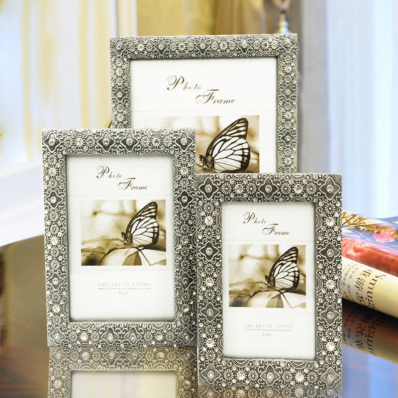 6/7/10Inch Retro Photo Frame European Retro Metal Photo Frame Home Art Decor Gifts Modern Photo Frame For weddening gift