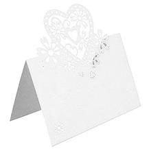 50pcs/Lot Love Heart Laser Cut Wedding Party Table Name Place Cards Favor Decor Wedding Decoration 4 Color 9x12cm