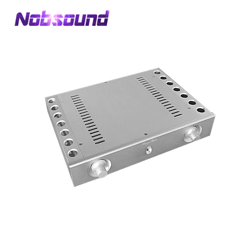 Nobsound 2015 New Full Aluminium Amplifer Chassis CaseHigh-end Silver DIY Hifi Enclosure new summer boots women gladiator sandals pointed toe patent leather cut outs lace up high heel boots pumps lace up ankle boots