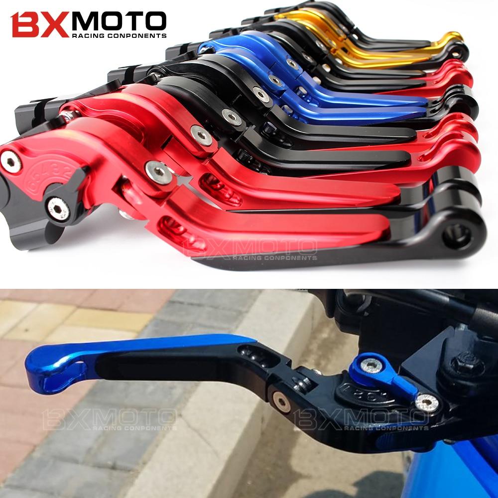 Motorcycle accessories part CNC Aluminum Adjustable Foldable Extendable Brake Clutch Levers For Yamaha MT03 MT-03 2015-2016 2017 цена