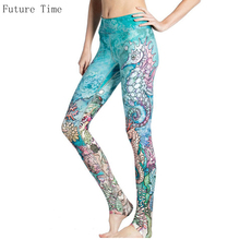 2017 Spring Sporting Leggings Women Hippocampus Print Jeggings Female Fitness Leggings Sexy Slim Legentsy Female Fitness Legging