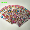 HAPPYXUAN 12 Hojas/lot Lindo de la Historieta 3D De Espuma Puffy Pegatina para Niños Marie Gato Gatito de la Princesa Blancanieves