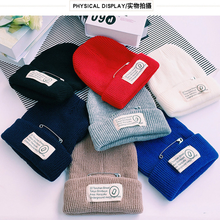 Kesebi 2016 Autumn Winter Female Casual Solid Color Simple   Skullies     Beanies   Women Warm Korean Style Patch Knitting Warm Hats