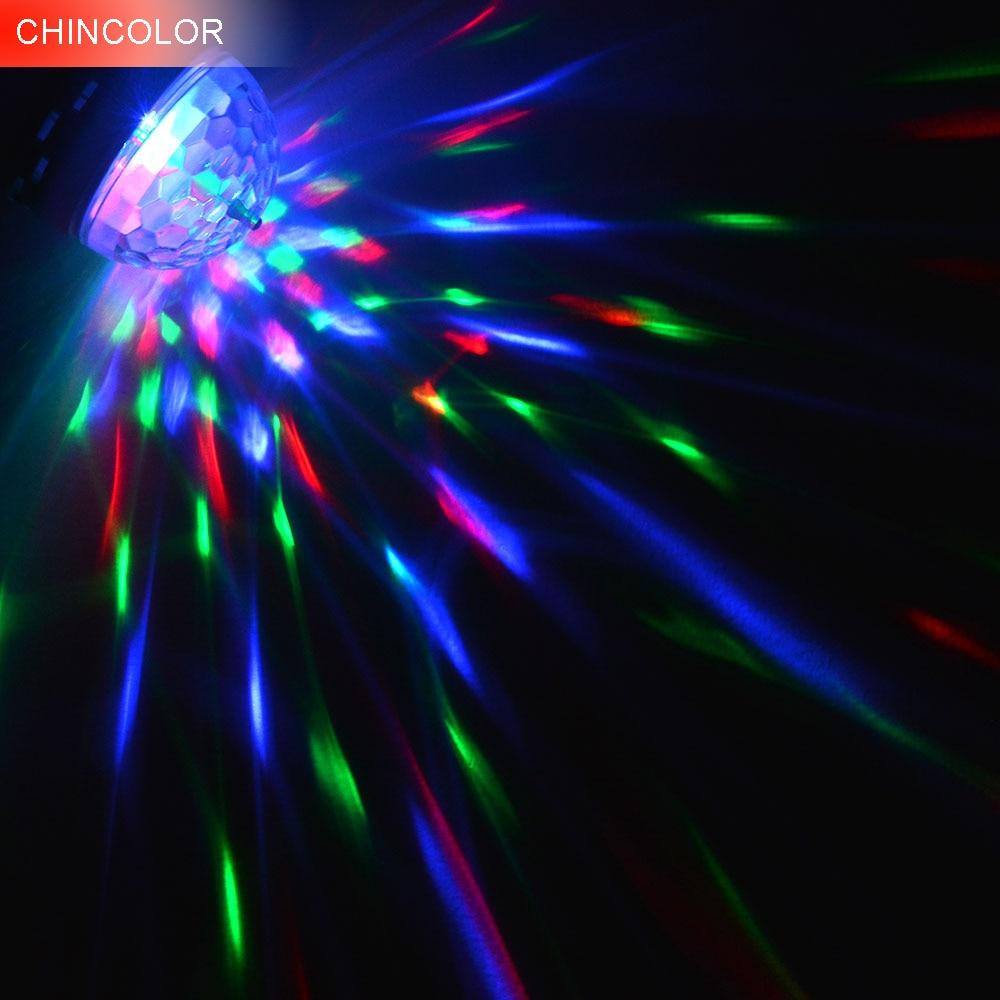 AC85-265V LED E27 Fırlanan RGB mərhələli işıq 3W / 6W rəngli - Ticarət işıqlandırması - Fotoqrafiya 1