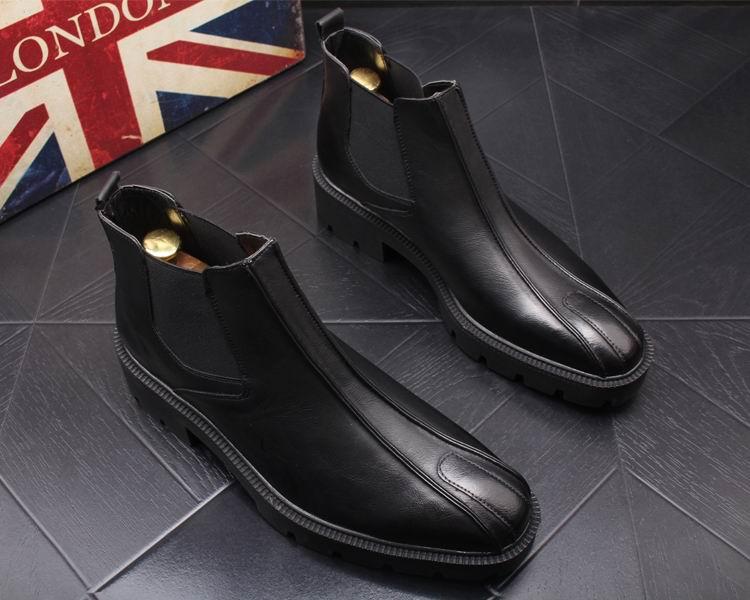 Errfc Homem Rodada Toe Mens Em Chelsea Moda 43 Tornozelo Preto Escritório New Botas Tendências Masculinos Lazer Sapatos Britânica Deslizamento r8x7nqr