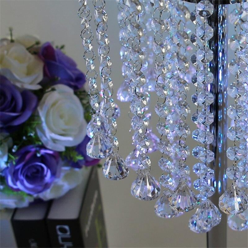 Свадебные украшения Кристалл стол центральные три слоя Металл Кристалл столпов свадьбы украшения партии событие День рождения 70 см - 4