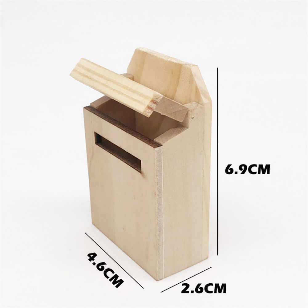 Lumumi Dollhouse Accessories Miniature Wooden Outside Letterbox Postbox Mailbox DIY Color for 1//12 Dollhouse