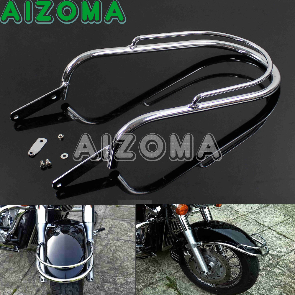 Motorcycle Frame Guard Protector Chrome Front Fender Trim Rail Honda Frames Bumper For Vt750 C2 Ace In Covers Ornamental Mouldings From Automobiles