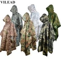 VILEAD Outdoor Waterproof Raincoat Impermeable Multi functional Rain Coat Men Women Durable Motorcycle Poncho Hunting Rain Gear