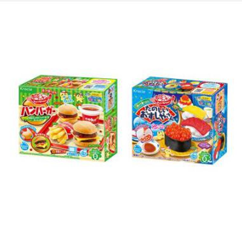 2pcs Japanese Popin Cook Happy Kitchen Cake Donut Hamburger Ice Cream DIY Handmade Toy Kitchen Pretend Toys