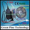 1 Unidades SMD 5050 60 LED/M 5 M RGB LED tira de cinta cordón de iluminación Linterna IP65 tira Impermeable + 44 clave Remoto + 5A Potencia adaptador