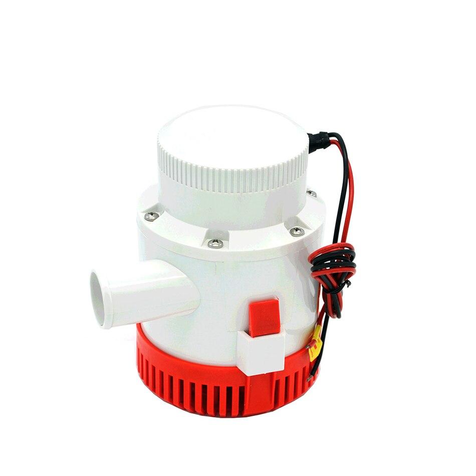 Pompe à eau électrique 3000GPH pour bateaux, pompe à eau submersible de bateau pompe de cale de grand débit dc 12 v/24 v avec le commutateur de flotteur de cale - 2
