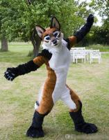 OISK Custom made Fox Wolf Fursuit Mascot Costumes OUtfits Halloween Performance Birthday Fancy Party Dress Costume