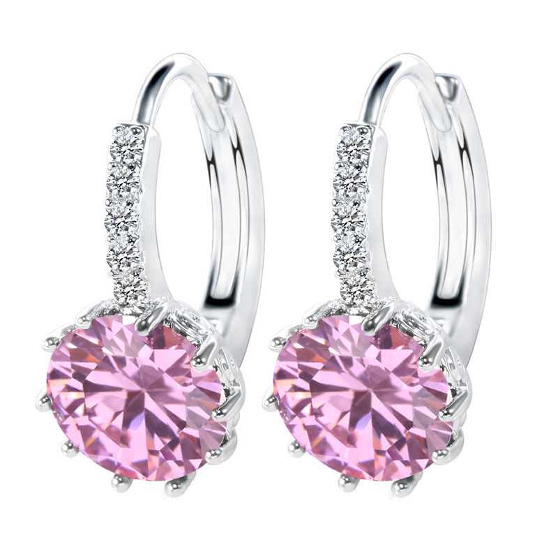 JEMMIN Shiny Shape Style Hoop Earrings For Women Female 925 Sterling Silver AAAAA Cubic Zirconia Lovers Best Gifts Hot Sale