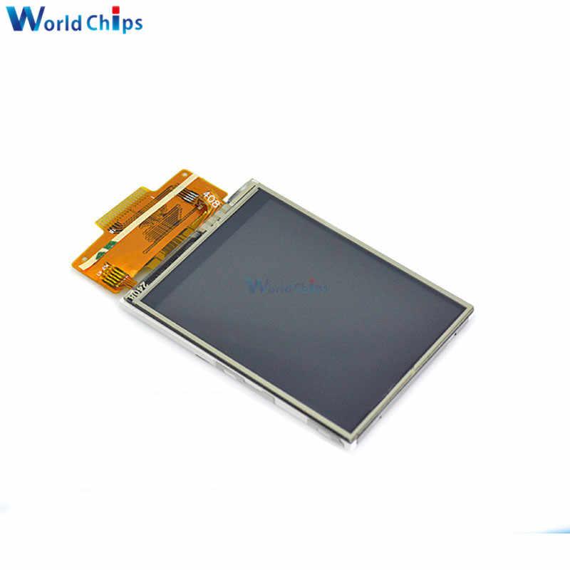 2.4 인치 LCD 디스플레이 240x320 SPI TFT ILI9341 백색 LED Arduino oled LCD 직렬 포트 모듈 5V/3.3V PCB 어댑터 마이크로 SD 카드