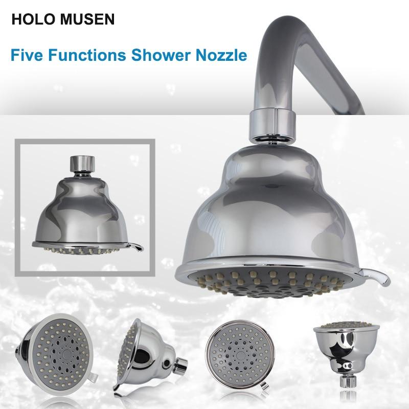 quality 4 inch 5 functions massage shower head sprayer silver u0026 black bronze top shower spray