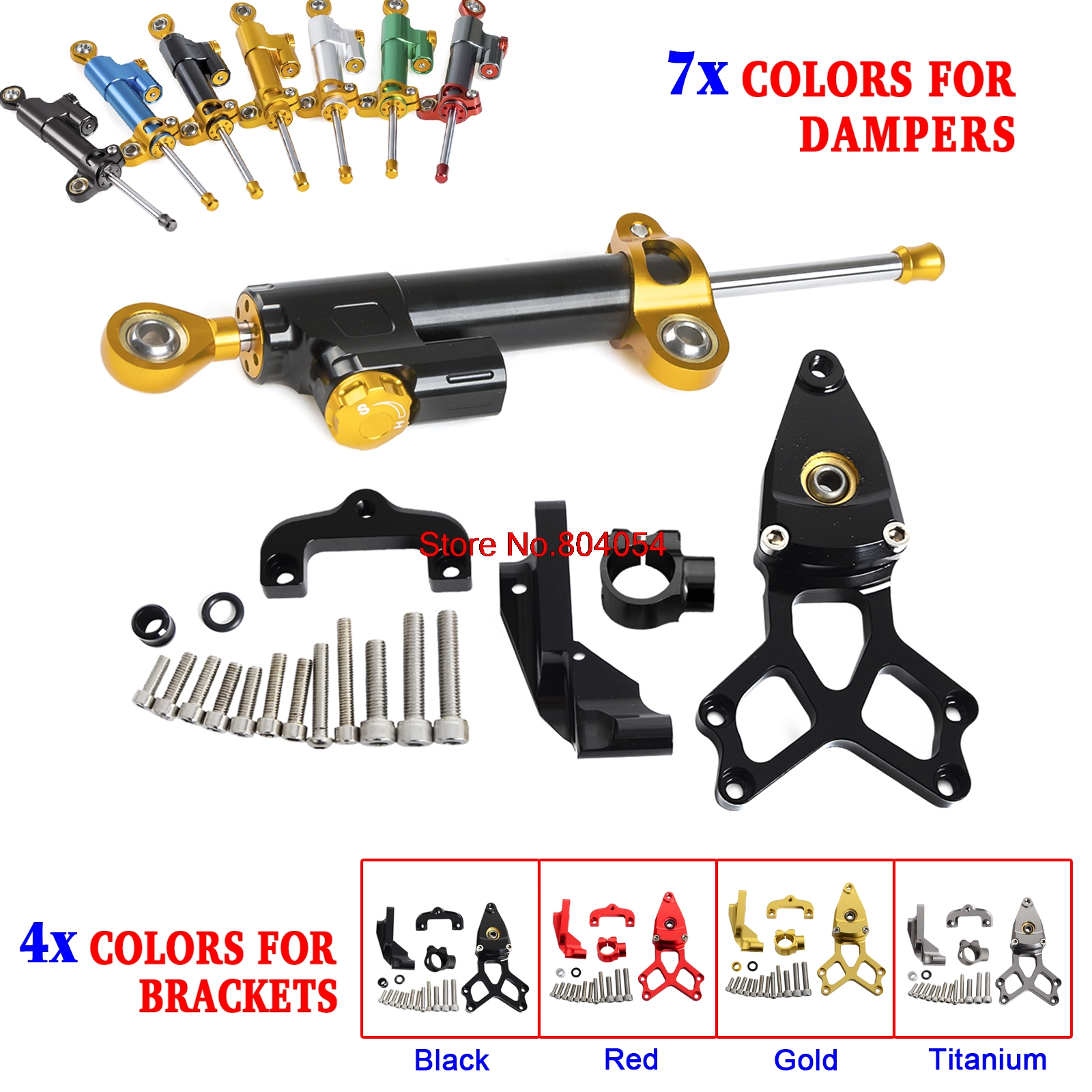 Steering Damper & Bracket Mounting Kit For Honda CBR1000RR ABS SP 2008 - 2016 2010 2012 2014 215 CBR 1000RR CBR1000 RR arashi motorcycle radiator grille protective cover grill guard protector for 2008 2009 2010 2011 honda cbr1000rr cbr 1000 rr