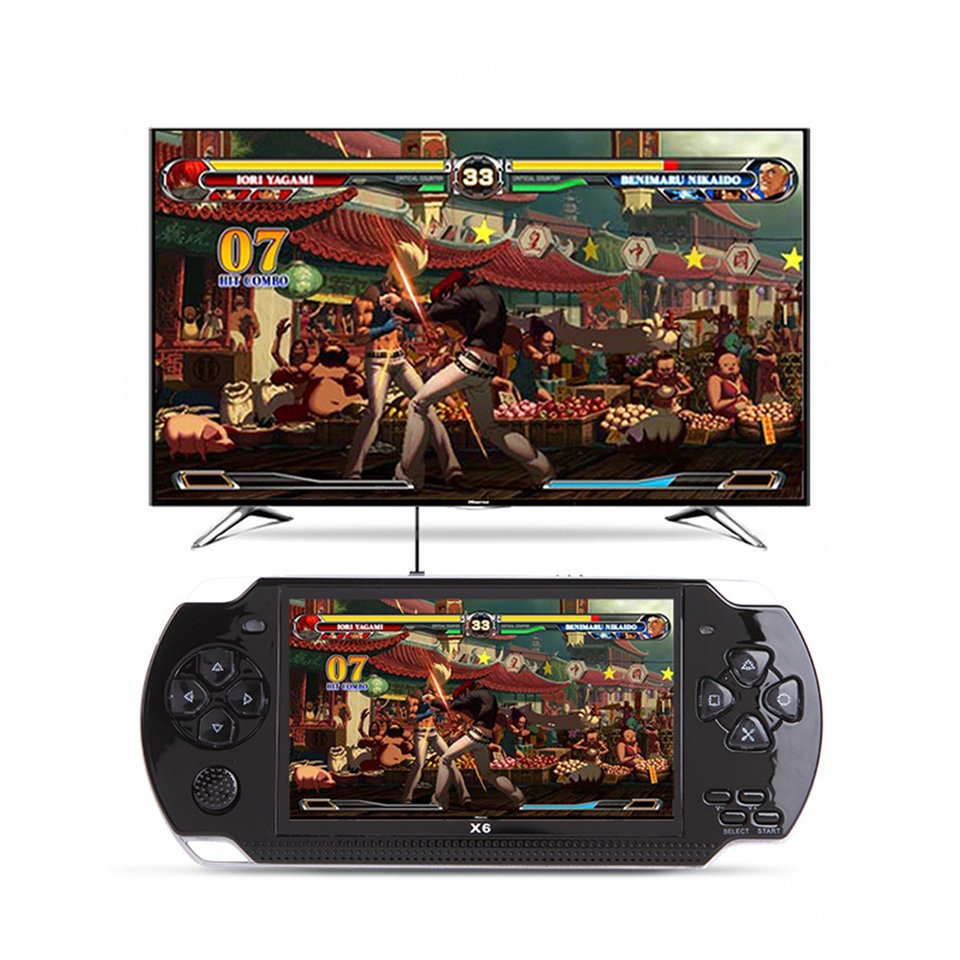 X6 Handheld Game Player 8GB 4.3inch Support GBA/NES Games MP4 Video Game Console Camera E-book Built-in Free 10000 Games