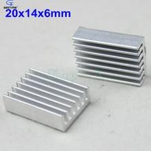 100pcs 20x14x6mm Silver Tone Aluminum Heatsink Cooling Fin Radiator Heat Sink 20mm x 14mm 6mm
