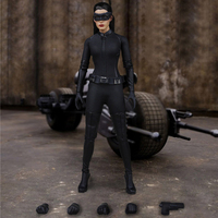 Batman 1/6 Female Action Figure Clothes Running Sport Suit & Shoes for 12 inches Anne Hathaway Figure Accessories