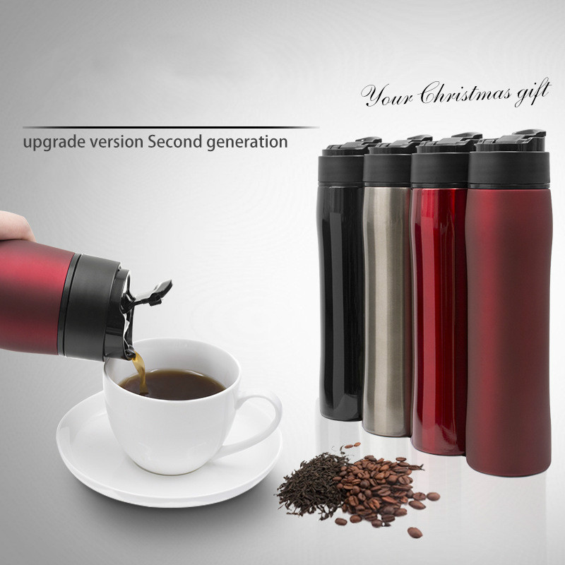Portable Pressure pot Coffee filter Insulation Stainless steel coffee pot stainless steel vacuum coffee insulation pot