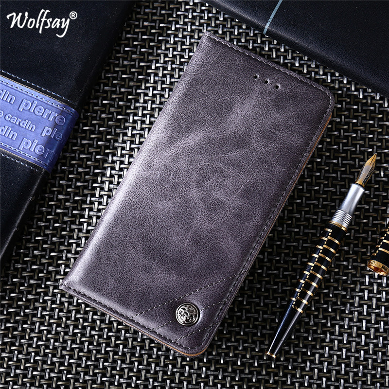 For Xiaomi Redmi 7A Case Luxury Flip Wallet Phone Bag Bumper Card Holder Back Cover