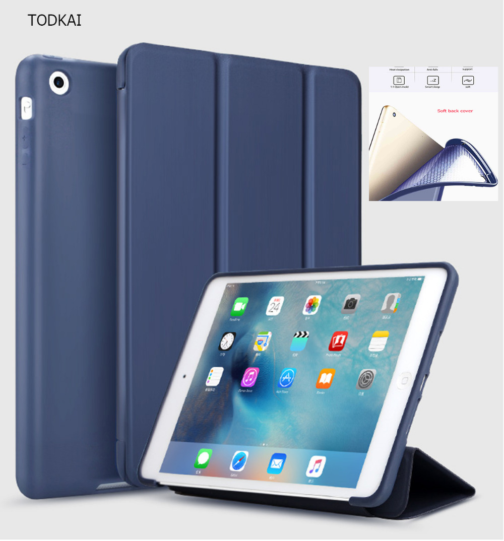For iPad Mini 4 Case PU Leather+TPU Silicone Soft Back Smart Case Coque ultra-thin Stand Auto Sleep/Wake for iPad Mini 1 2 3 full body protective silicone tpu soft back pu leather case for apple ipad 2 3 4 cover flexible magnetic slim flip smart case
