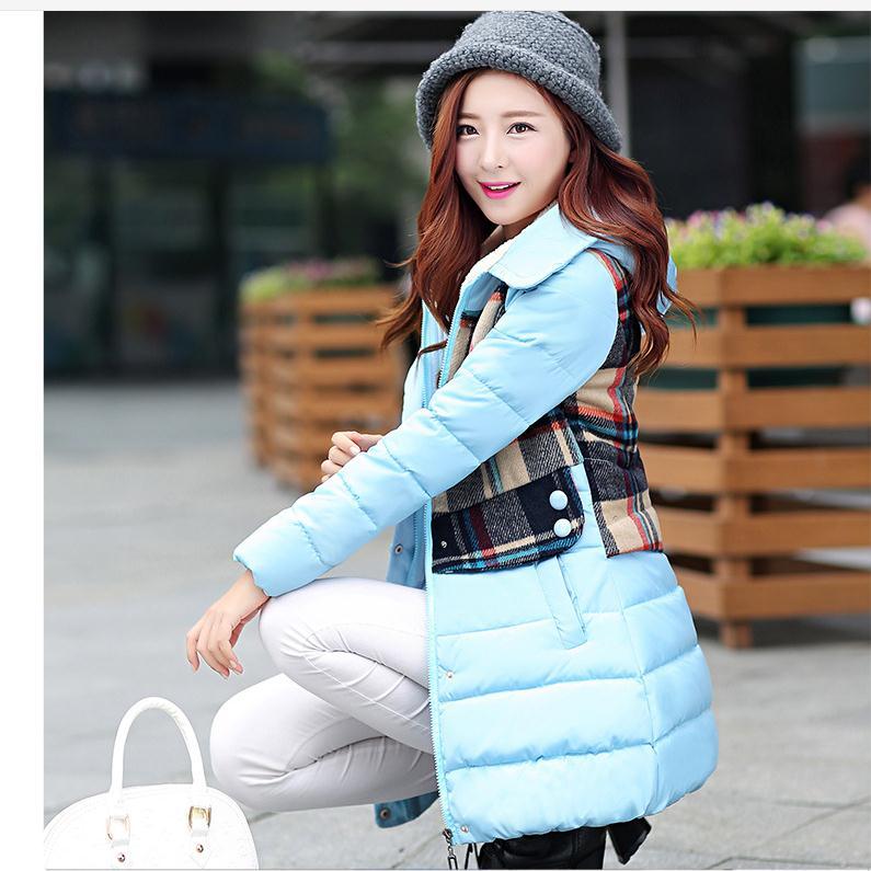 Ücretsiz Kargo Jaqueta Mensyaz Kapşonlu Ceketler Pamuk Yastıklı Patchwork Parkas M/2Xl Kadın Rahat Paltolar Giyim J1651-39