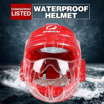 Vollvisierhelme Für Kinder   Kostenloser Versand Erwachsene Kinder Karate Helm Fitness Taekwondo Helme WTF Protector Kopfbedeckungen Mit Gesicht Maske Volle Schutz Unterstützung