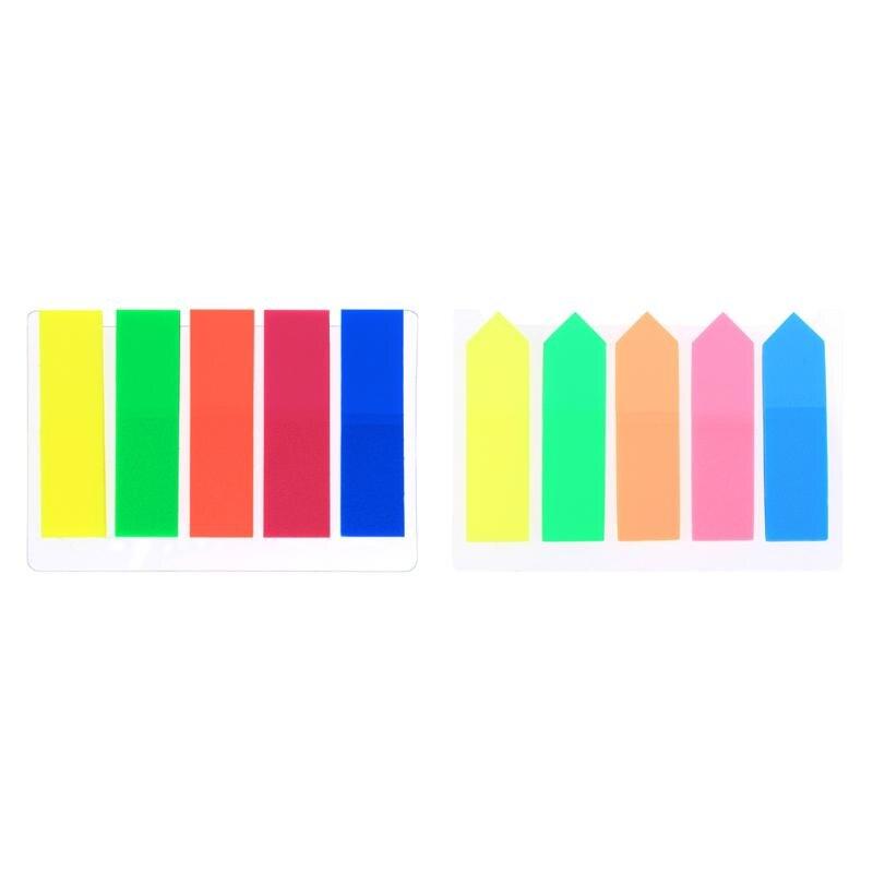 100pcs plastic self adhesive memo pad sticky notes bookmark index paper schoo il