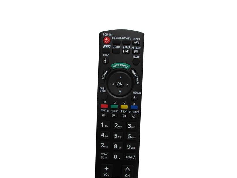 10 шт. пульт дистанционного Управление для цифрового фотоаппарата Panasonic TH P58VT20A TH P65VT20A N2QAYB000604 TH L32C30A TH L32E3A TH L32U30A TH L32X30A HD ТВ