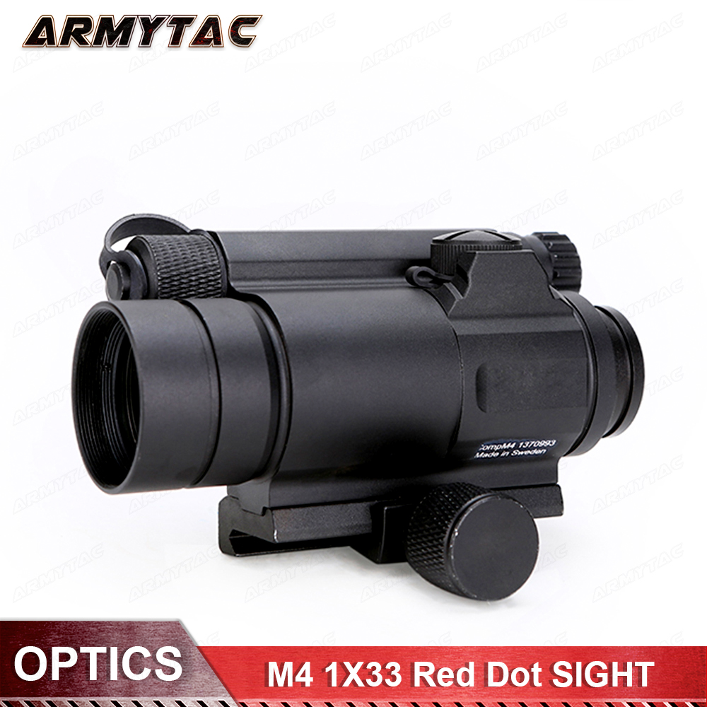 цены Tactical M4 1X33 Red Dot Collimating Sight With Red And Green Illumination For hunting shooting Hunting