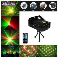 Mini LED Laser Pointer Disco Stage Light Pattern Lighting IR Remote RG Laser Projector Show Lamp