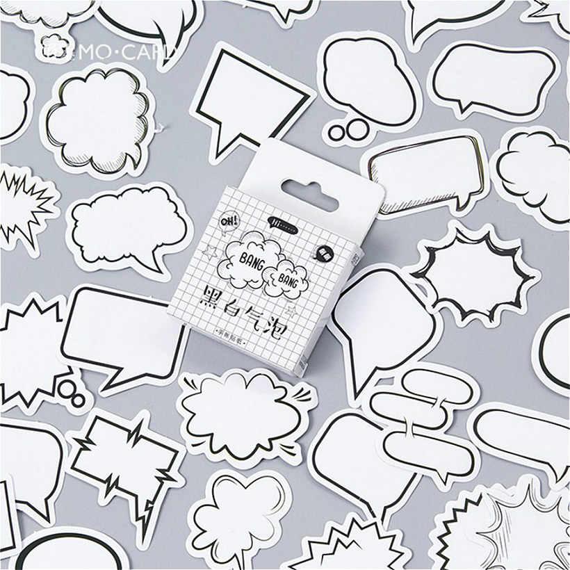 LOLEDE nuevas 45 unidades por juego, pegatinas de papelería de burbujas, pegatinas Kawaii hechas a mano para diario, pegatinas de papel en escamas, papelería de Scrapbooking