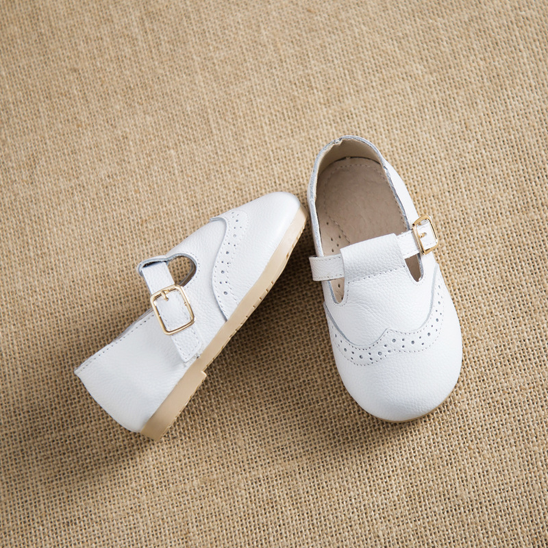 girls party wedding shoes genuine leather toddler girls princess shoes 1 6 years baby shoes zapatos blanco nina tx172 in leather shoes from mother kids on