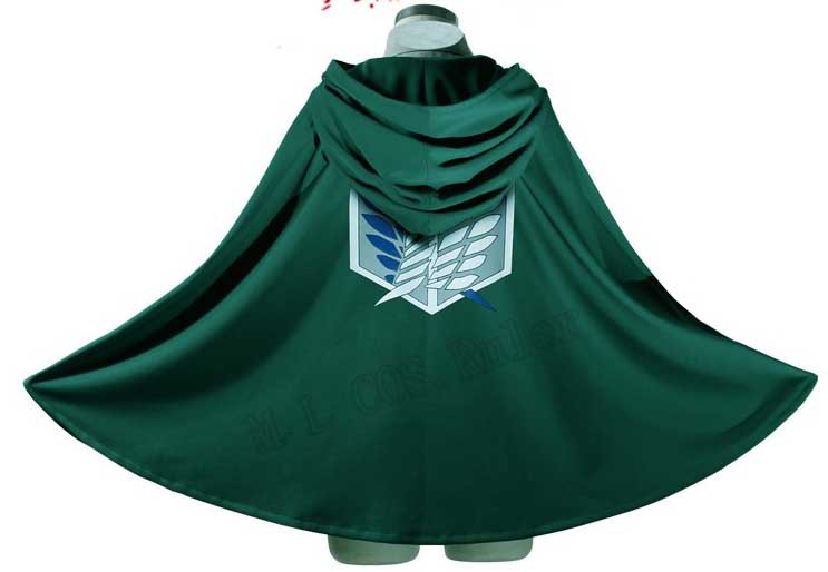 Attack on Titan Eren Jager Scouting Legion Cosplay Costume Cloak Free Shipping Free Size