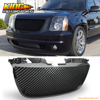 For 2007 2013 GMC Yukon Denali B Mesh Style Front Grille Grill ABS Black USA Domestic Free Shipping Hot Selling