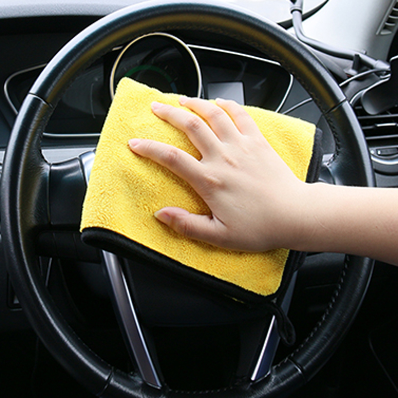 2018 new 30 * 30 cm car wash microfiber towel for Audi Q3 Q5 SQ5 Q7 A1 A3 S3 A4 S4 RS4 RS5 A5 A6 S6 C6 C7 S5 A7 S7 A8 image