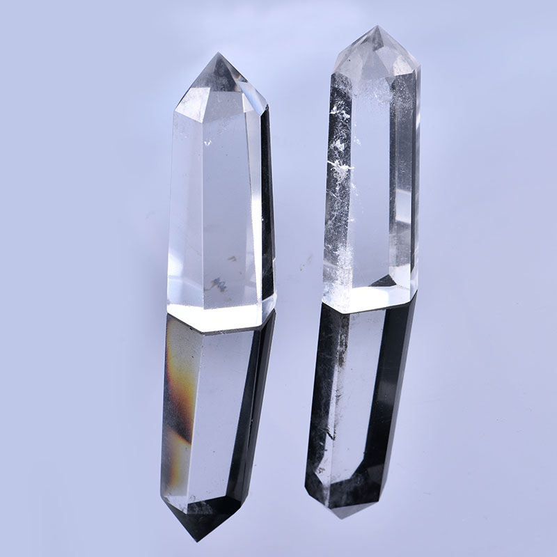 1PC Natural White Crystal Column Crystal Point Mineral Ornament Healing Wand Family Home Decoration Decoration DIY Gift