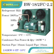 2300dollars buy 2HP high temperature air cooled condensing unit with Bitzer semi-hermetic compressor suitable for water chilller
