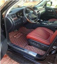 Bueno! esteras especiales de suelo y estera del tronco para Toyota Land Cruiser 200 7 asientos 2017-2007 durable impermeable alfombras alfombras, envío libre