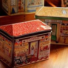 Специальное предложение! 2 шт./лот, большой размер, жестяная коробка для хранения, форма для выпечки, металлическая банка для конфет, банка для хранения печенья, коробка для конфет